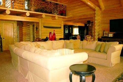 log cabin sofa